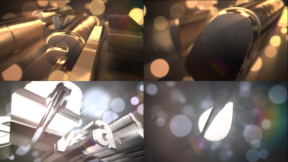 Videohive Gold Silver Logo Text Reveal 8049605