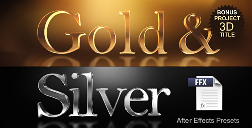 Videohive Gold & Silver Presets 10037826