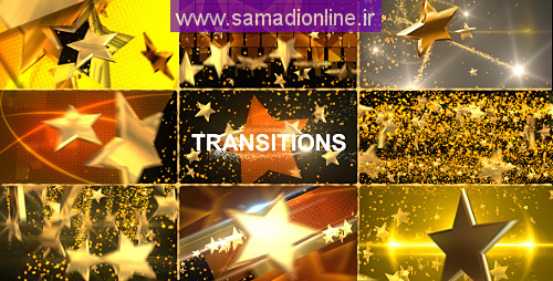 Videohive Gold Star Transitions Pack