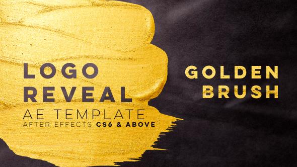 Videohive Golden Brush Logo Reveal 21401054