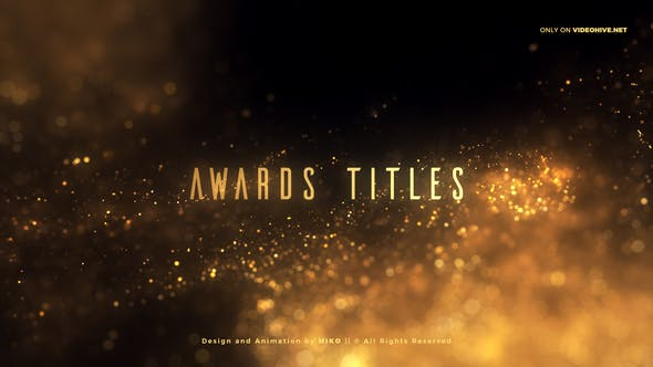 Videohive Golden Glitter Particles Titles 25542712