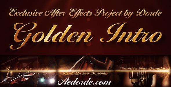 Videohive Golden Intro 459748