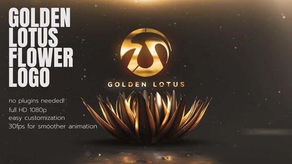 Videohive Golden Lotus Flower Opener 26351523