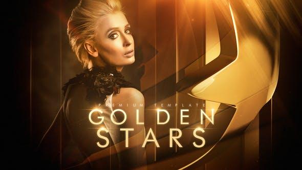 Videohive Golden Stars 23362521