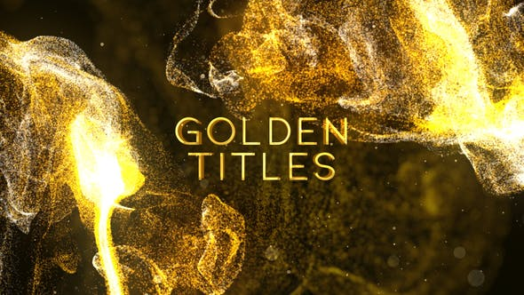 Videohive Golden Titles 24988635