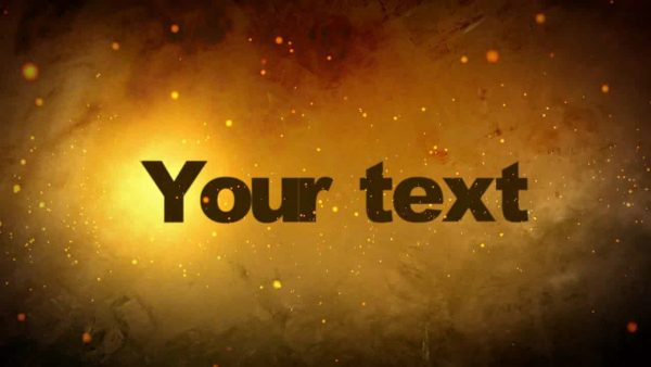 Videohive GoldenParticles