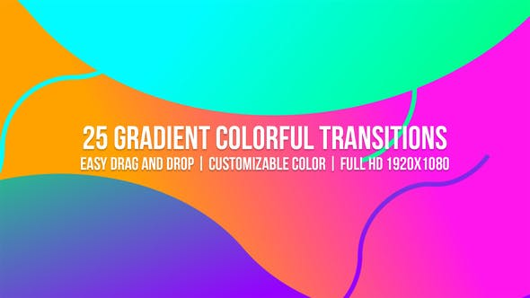 Videohive Gradient Colorful Transitions 23161255