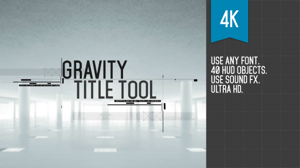 Videohive Gravity Title Tool 19270965