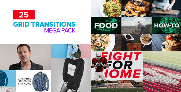 Videohive Grid Transitions Pack 20499826