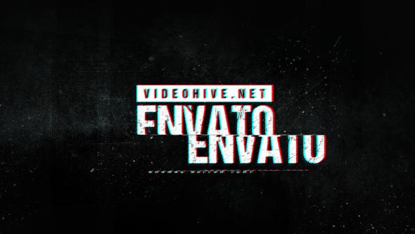 Videohive Grunge Glitch Logo 19552310
