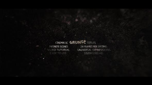Videohive Grunge Titles 16197931