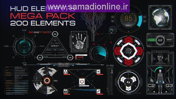 Videohive HUD Elements Mega Pack 11250824