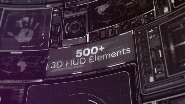Videohive HUD Motion Graphics Package 19788691