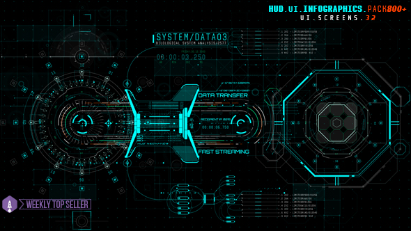 Videohive HUD UI Infographics Pack 800 19616723