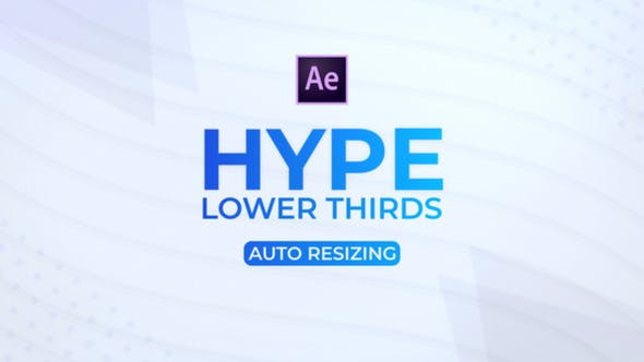 Videohive HYPE Lower Thirds 22468591