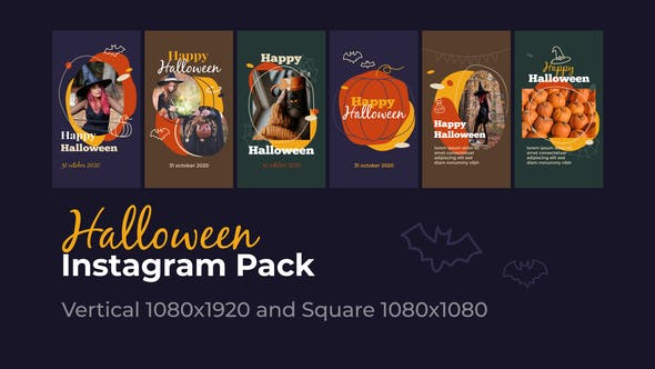 Videohive Halloween Instagram - Vertical and Square 28749751