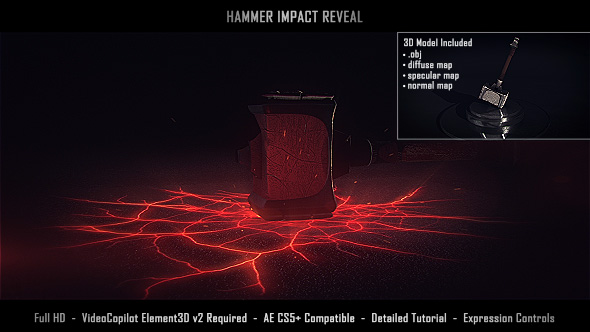 Videohive Hammer Impact Reveal 19782812