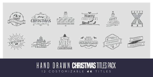 Videohive Hand Drawn Christmas Titles Pack 20981263