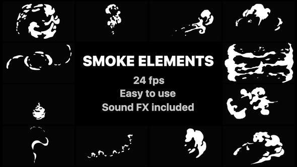 Videohive Hand Drawn Smoke Elements 21634468