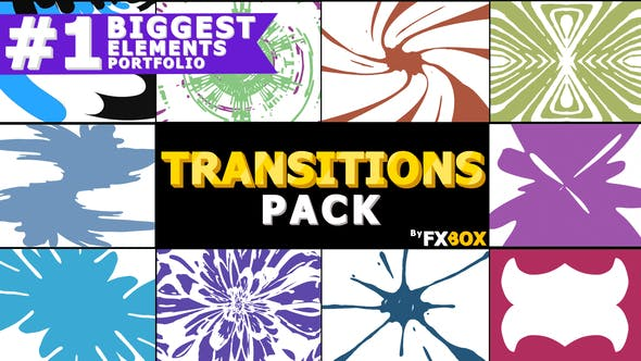 Videohive Hand Drawn Transitions Pack 22668564