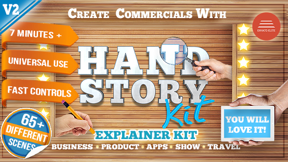 Videohive Hand Explainer Product Commercial Kit 15678999
