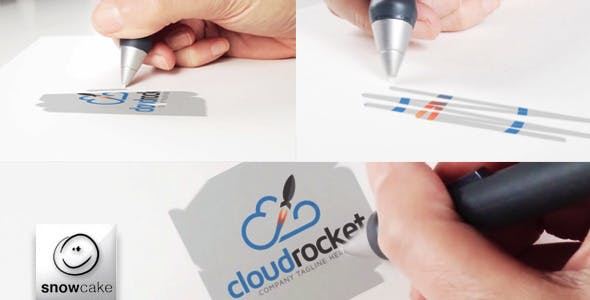 Videohive Hand Is Drawing Logo Mock-Up 9346094