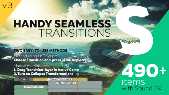Videohive Handy Seamless Transitions - Pack Script V3.0 18967340
