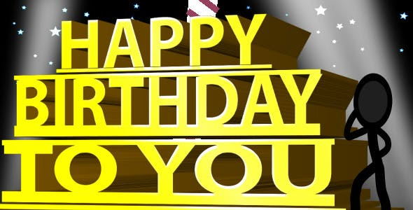 Videohive Happy Birthday Ecard - Inkman 263184