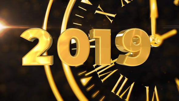 Videohive Happy New Year Countdown 3D Animation 14032224