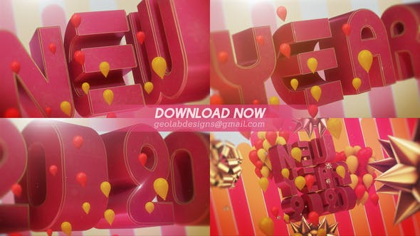Videohive Happy New Year - New Year 2020 - New Year Celebration Template 25326604