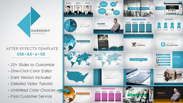 Videohive Harmony Corporate Business Package 7700644