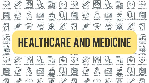 Videohive Healthcare And Medicine - Outline Icons 21291294