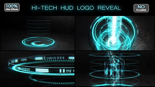 Videohive Hi-tech HUD Logo Reveal 17570074