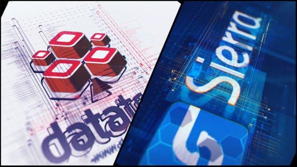Videohive High Tech Logo V08 Glitch Reveal 22732228