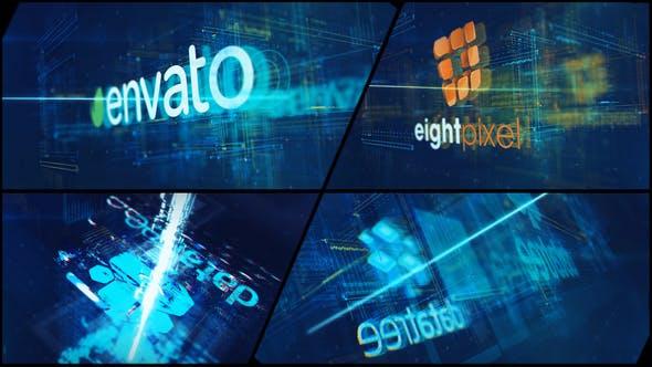 Videohive High Tech Logo V09 Electric Glitch 22799071