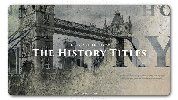 Videohive History Titles Slideshow 22607705