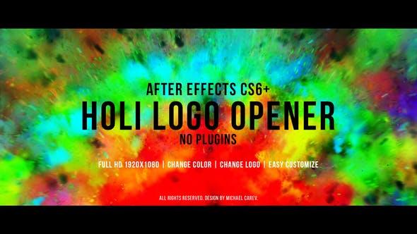Videohive Holi Logo Opener 22765398