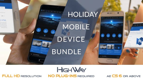 Videohive Holiday Mobile Device Bundle - Match Moving 19676952