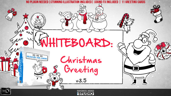 Videohive Holiday Whiteboard Greeting Pack 6078110
