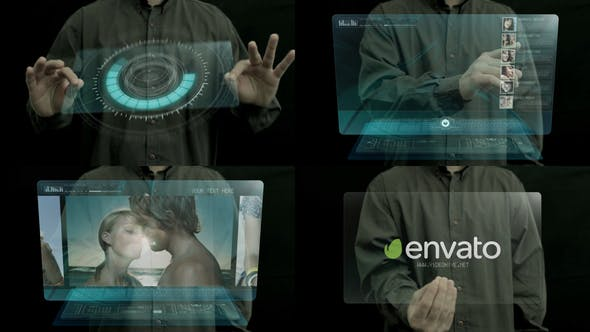 Videohive Holographic touch 477388