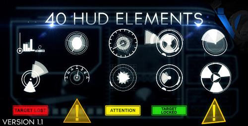 Videohive Hud Elements 40