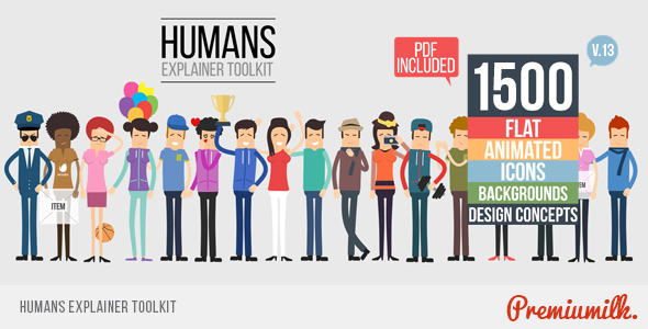 Videohive Humans Explainer Toolkit 17152310