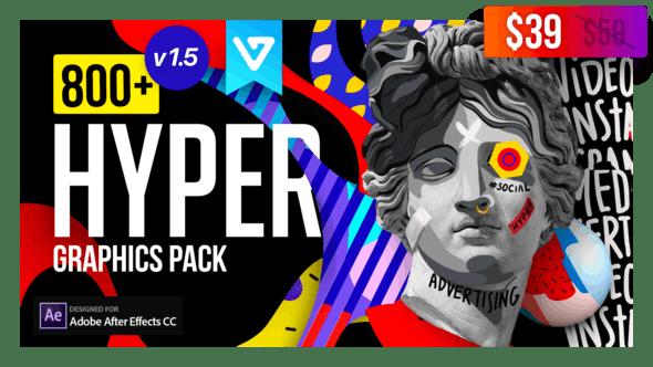 Videohive Hyper - Graphics Pack v1.5 24835354