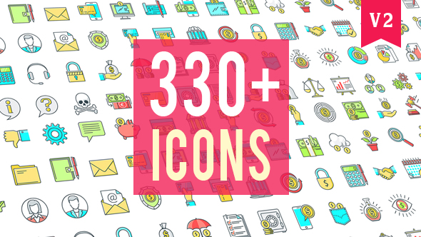Videohive Icons Pack 330 Animated Icons 20235601