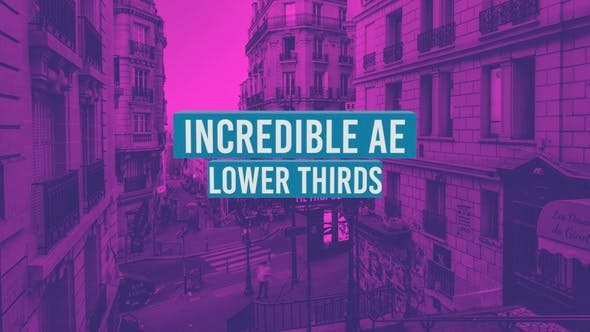 Videohive Incredible AE Lower Thirds 19367980