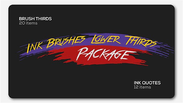Videohive Ink Brushes Lower Thirds Package 19789500