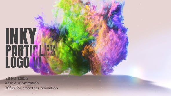 Videohive Inky Particles Logo 26536890