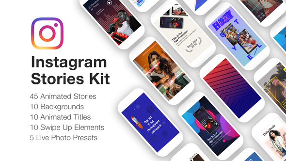 Videohive Instagram Stories Kit Instagram Story Pack 22195723