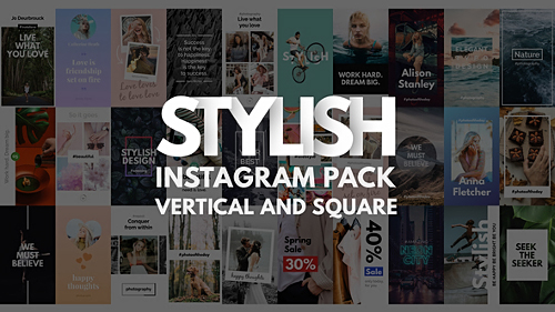 Videohive Instagram Stories Pack - Vertical and Square 21692676