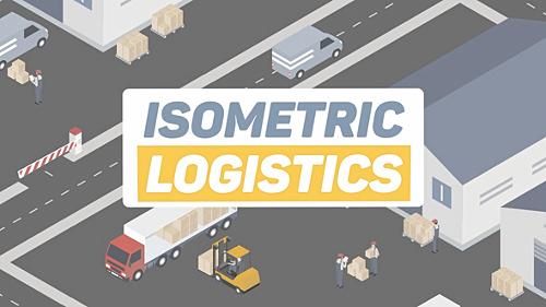 Videohive Isometric Logistics 22324616